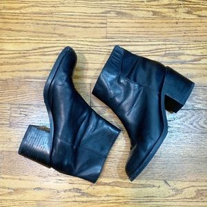 & Other Stories Velcro Strap Black Leather Booties